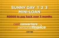 Get  a Sunny Day Mini-Laon at Cash Converters Montague Gardens