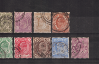 CAPE OF GOOD HOPE 1902-04 KEVII DEFINITIVE SET OF 9 FINE USED. SACC 65-75. CAT R780