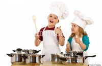 Beautiful Kids Chef aprons and hats- 3rd Kid Handmade Creations