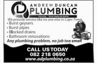 Professional Plumbing Specialist Andrew Duncan - Cape Town